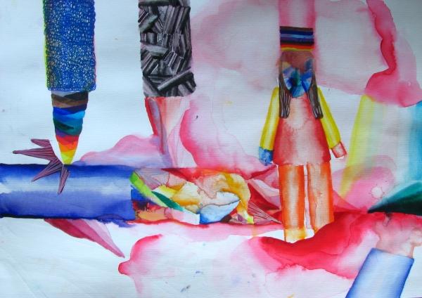 A4/akvarel na papíře