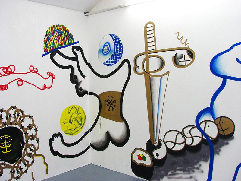Fix,pastel a sprej na zdi/2016